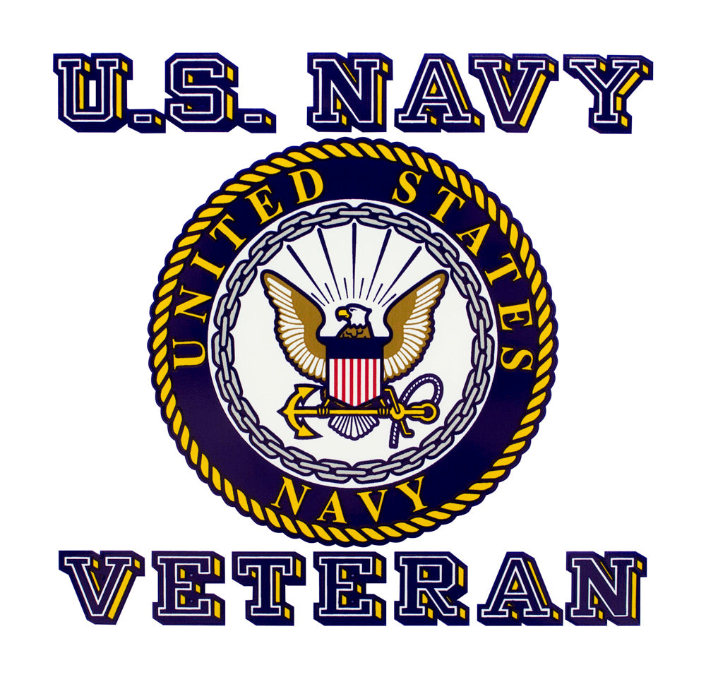 Navy Veteran with Seal Clear Decal