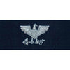 Navy Embroidered Coverall Collar Insignia Rank - Enlisted and Officer