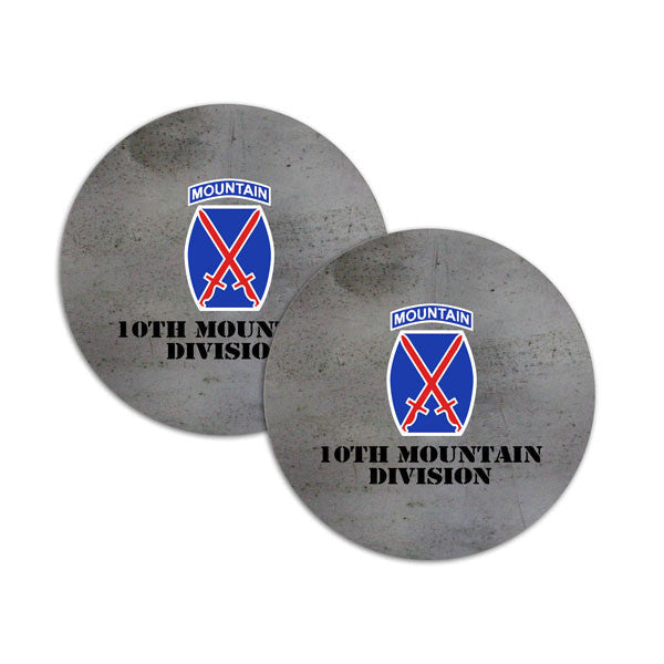 10th Mountain Division Coasters