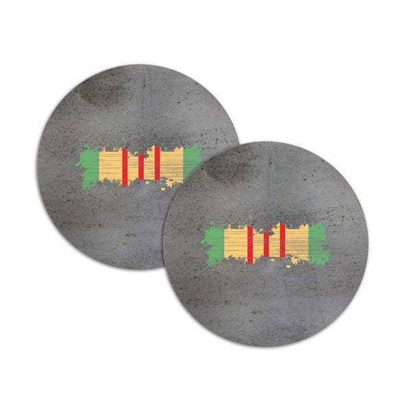 Vietnam Distressed Ribbon Coasters