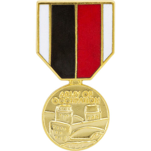 ARMY OF OCCUPATION MEDAL MEDAL RIBBON HAT PIN MINI LAPEL HAT PIN US
