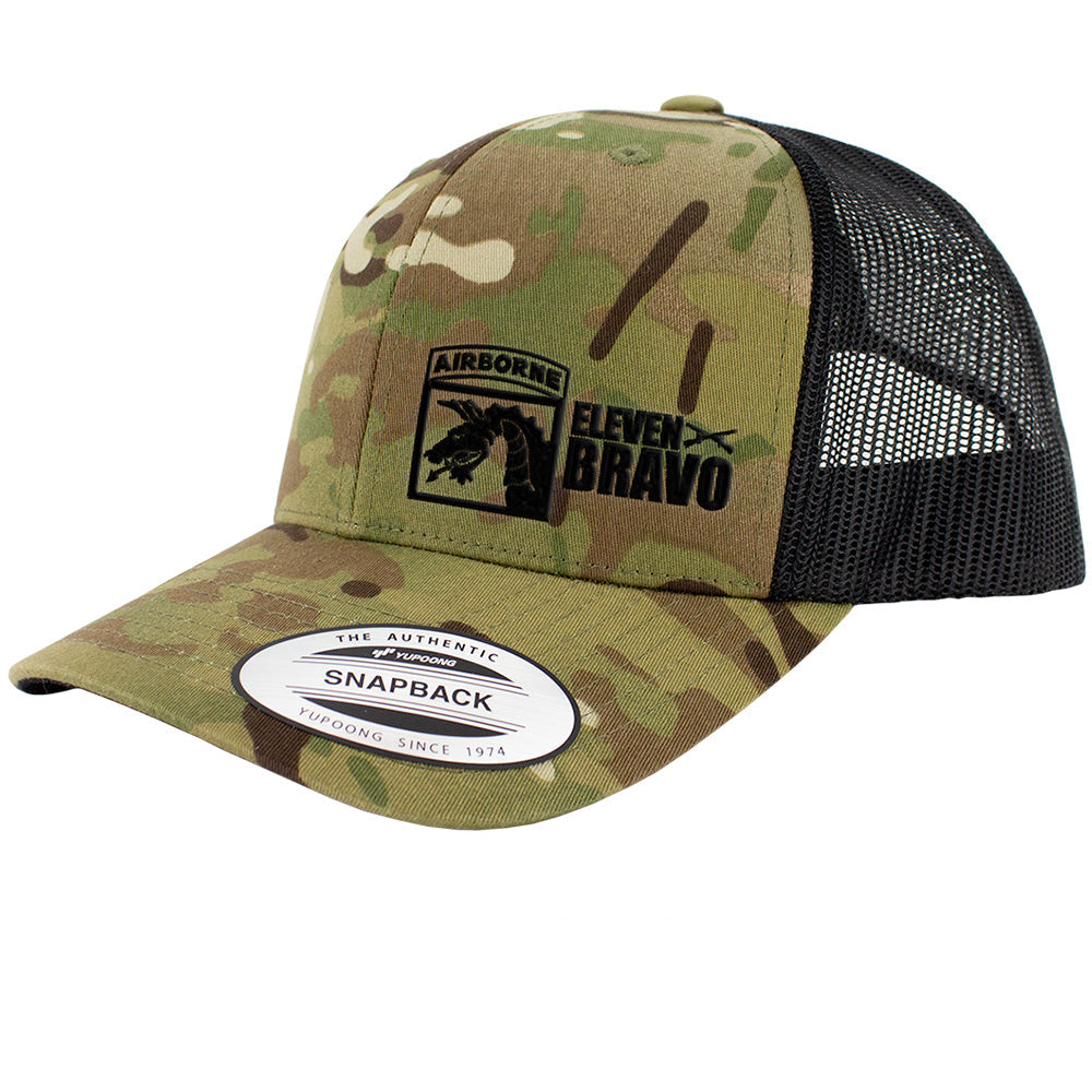 18th Airborne 11 Bravo Series Snapback Trucker Multicam