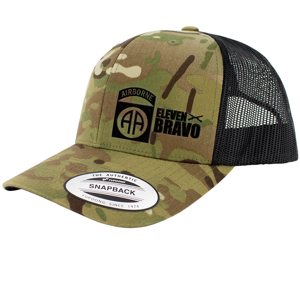 82nd Airborne 11 Bravo Series Snapback Trucker Multicam