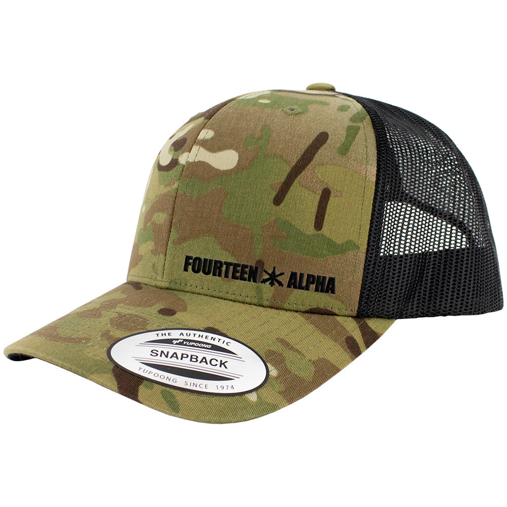 Fourteen Alpha MOS Snapback Trucker Multicam Caps