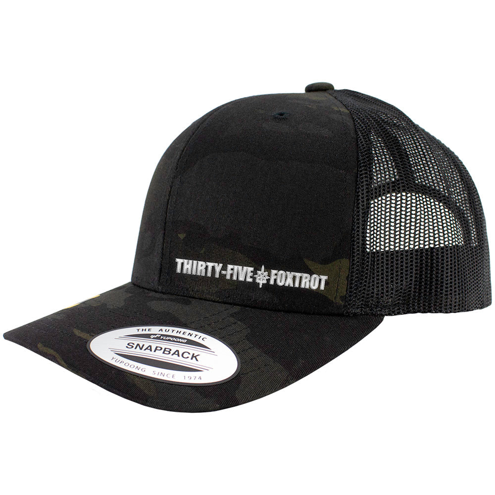 Thirty-Five Foxtrot MOS Snapback Trucker Multicam Caps