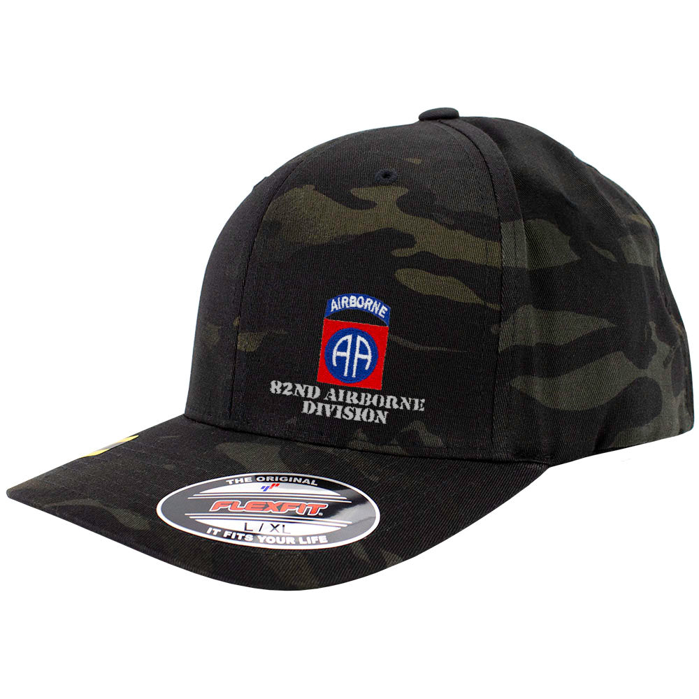 82nd Airbrone Division FlexFit Caps - Multicam