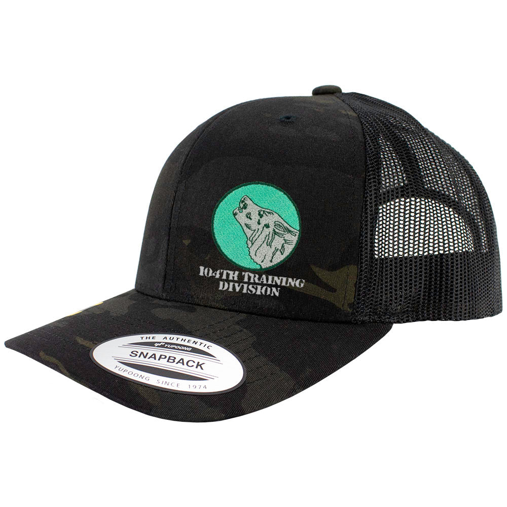 104th Training Division Snapback Trucker Cap - Multicam