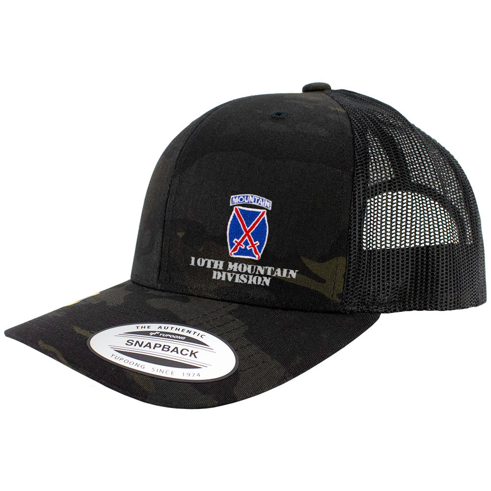 10th Mountain Division Snapback Trucker Cap - Multicam