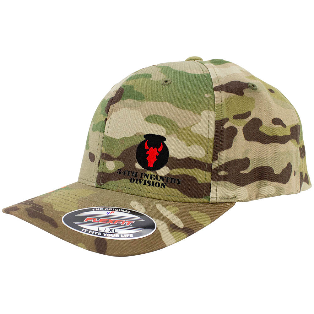 34th Infantry Division FlexFit Caps - Multicam