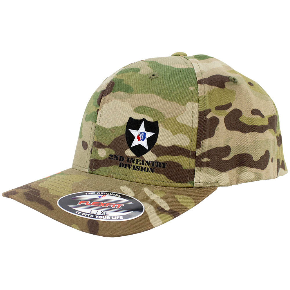 2nd Infantry Division FlexFit Caps - Multicam