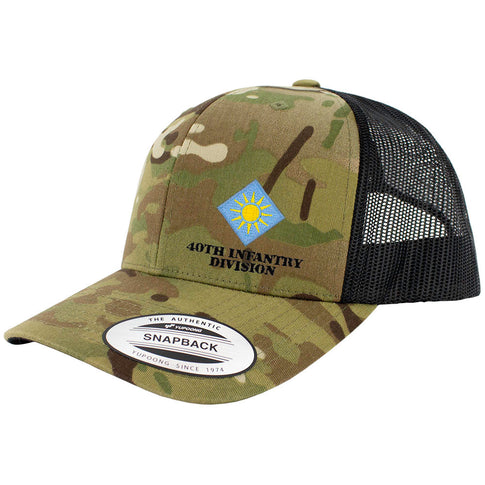 40th Infantry Division Snapback Trucker Cap - Multicam