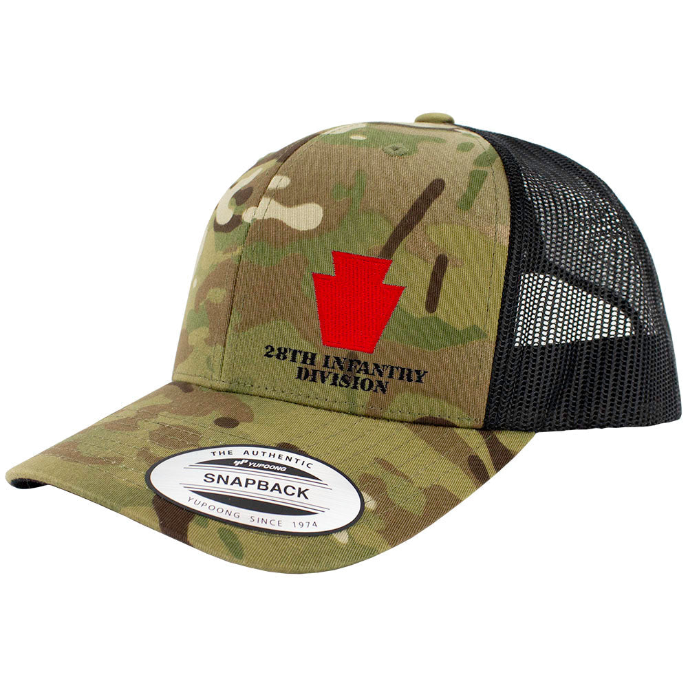 28th Infantry Division Snapback Trucker Cap - Multicam