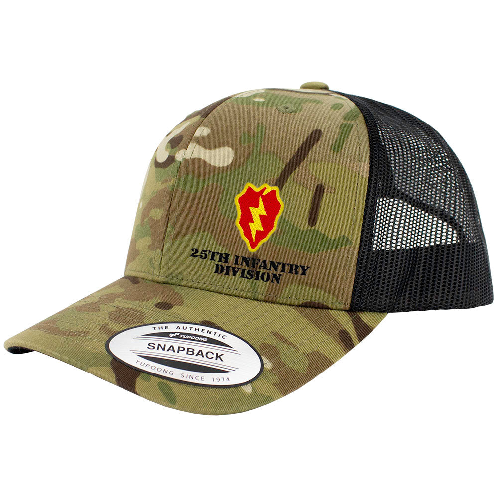 25th Infantry Division Snapback Trucker Cap - Multicam