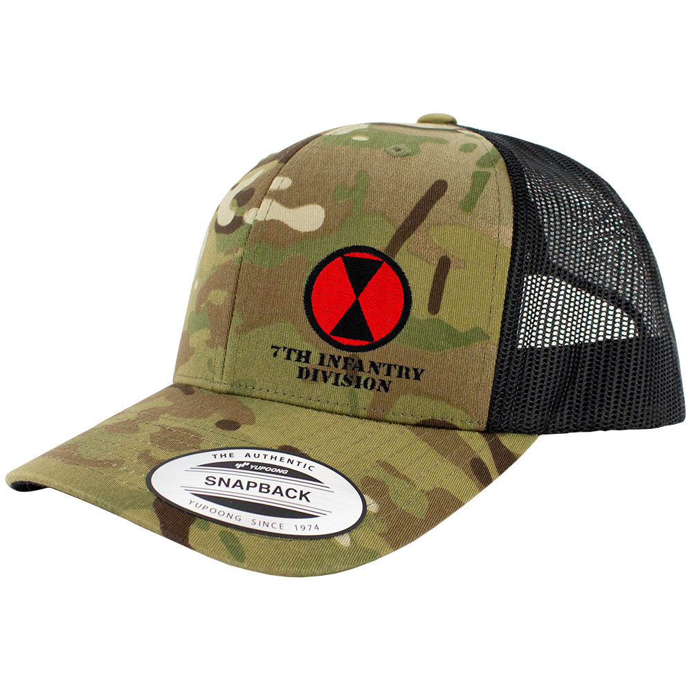 7th Infantry Division Snapback Trucker Cap - Multicam