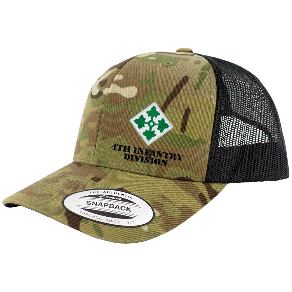 4th Infantry Division Snapback Trucker Cap - Multicam