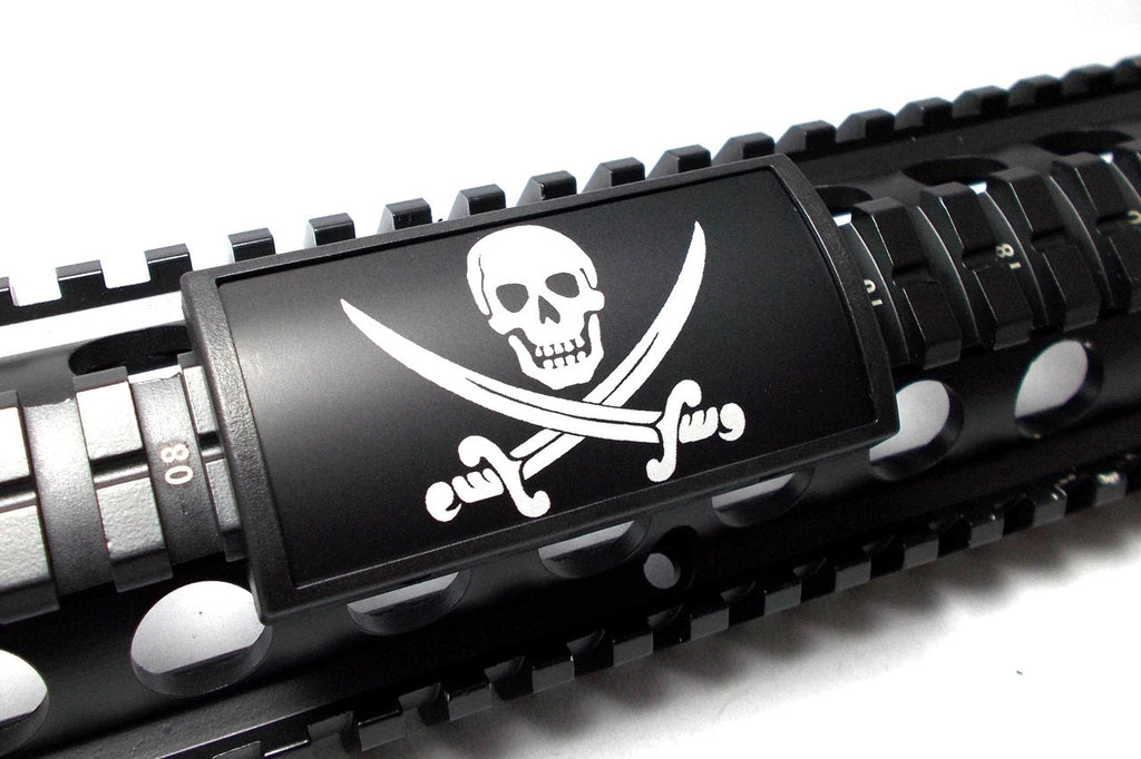 Skull and Crossed Swords Rail Covers