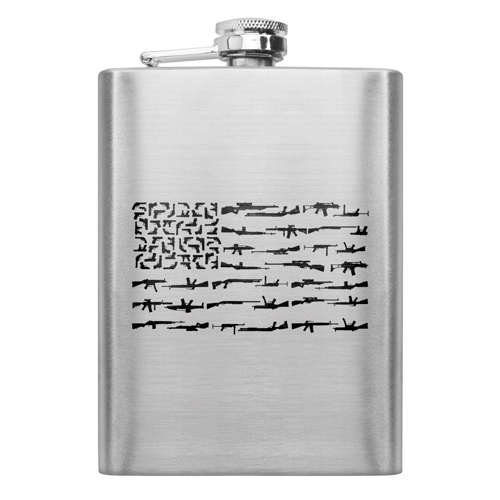 Gun Flag 8 oz. Flask