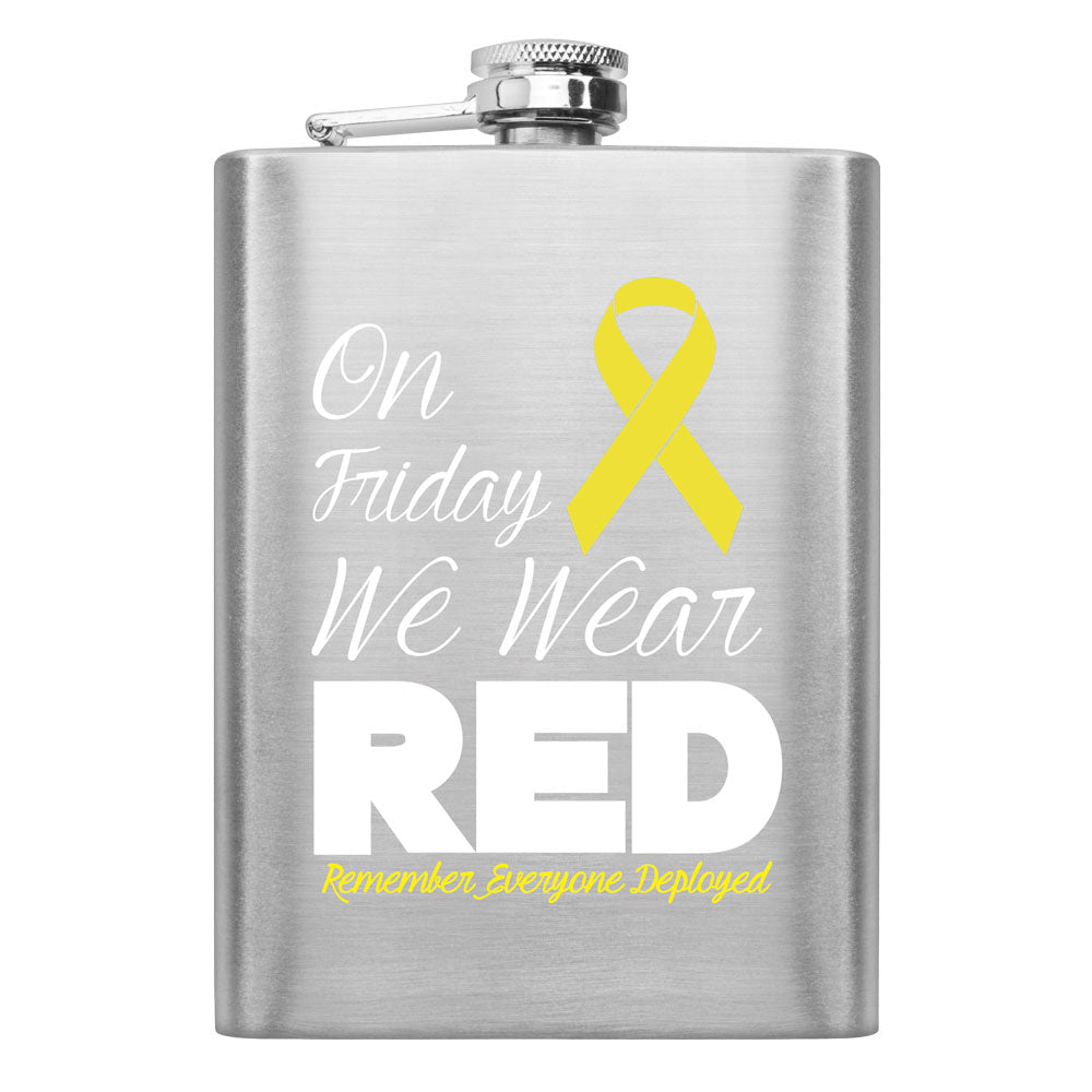 RED Friday Yellow Ribbon 8 oz. Flask
