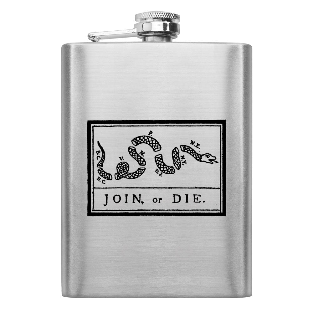 Join or Die 8 oz. Flask