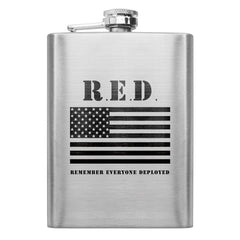 RED (Remember Everyone Deployed) 8 oz. Flask