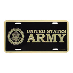 Army Insignia License Plate