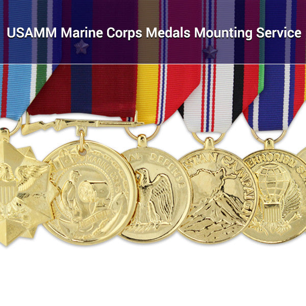 USAMM Marine Corps Medals Mounting Service