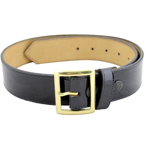 Marine Corps Synthetic Leather Garrison Belt with Brass Buckle