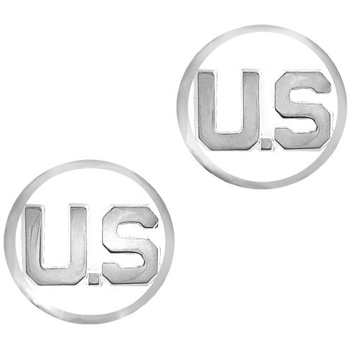 Air Force U.S. Letters Mirror Finish Collar Insignia