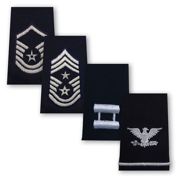 Air Force Epaulets - Enlisted and Officer - Small Size