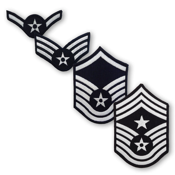 Air Force Full Color Embroidered Enlisted Rank - Large Size