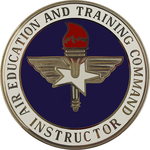Air education and training command instructor badge usamm for Army emergency reserve decoration