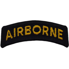 Airborne Class A Tab - Black / Yellow Lettering