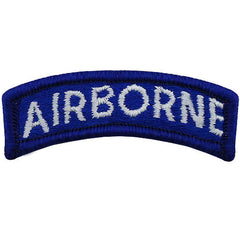 Airborne Class A Tab - Blue / White Lettering