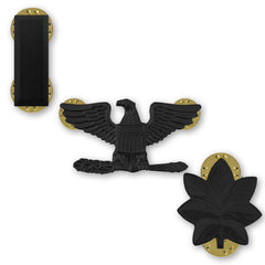 Army Subdued Black Metal Rank - Enlisted and Officer