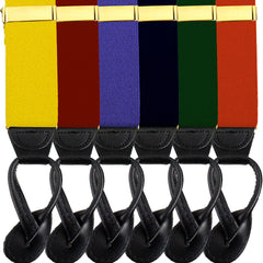 Army Branch Specific Dress Suspenders with Leather Ends