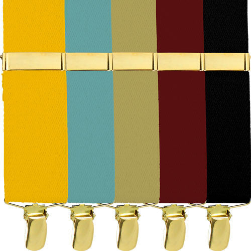 Army Branch Specific Dress Suspenders with Metal Clips