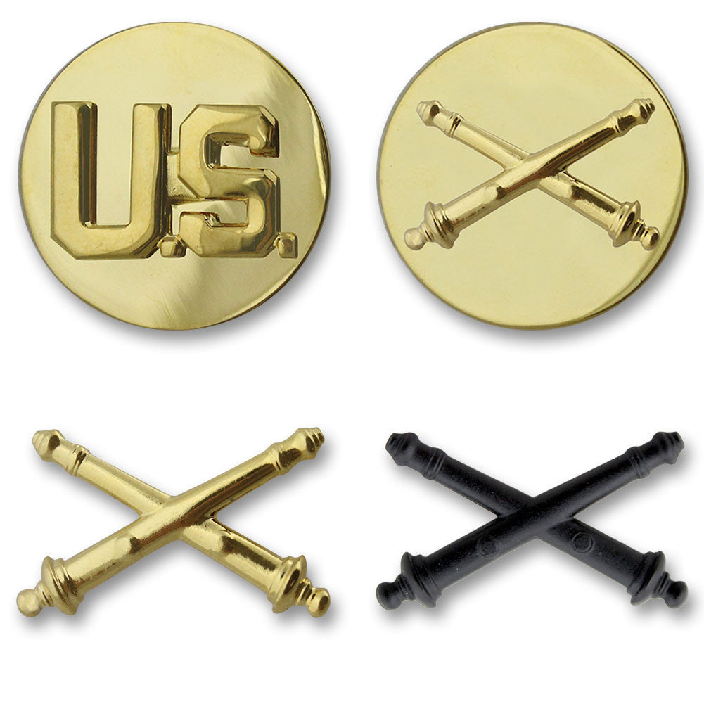 Army Field Artillery Branch Insignia - Officer and Enlisted