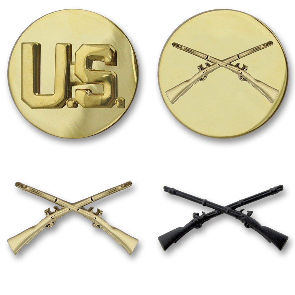Army Infantry Branch Insignia - Officer and Enlisted