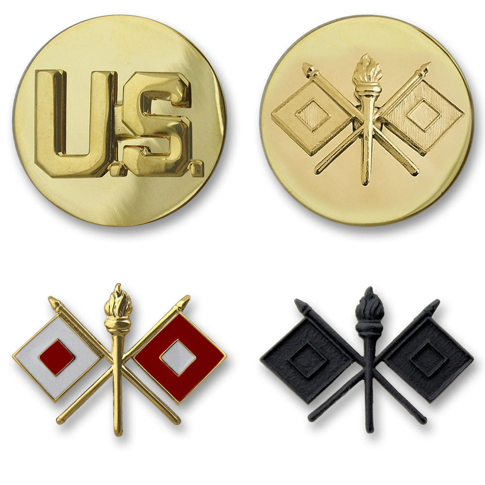 Army Signal Branch Insignia - Officer and Enlisted