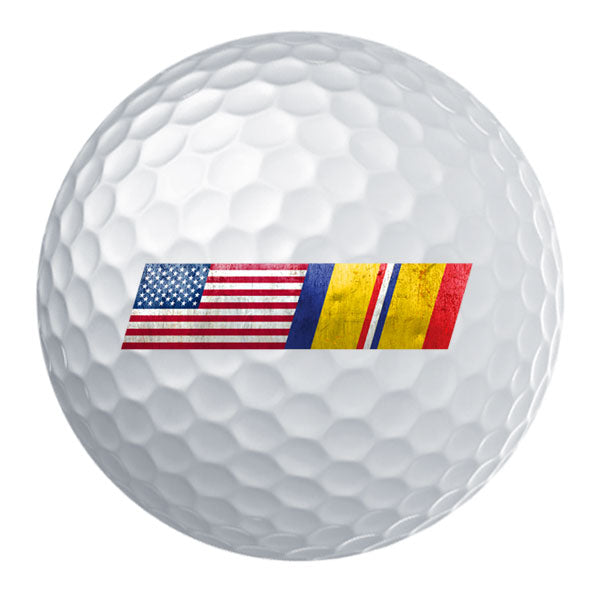 American Flag Combat Action Ribbon Blend Golf Ball Set