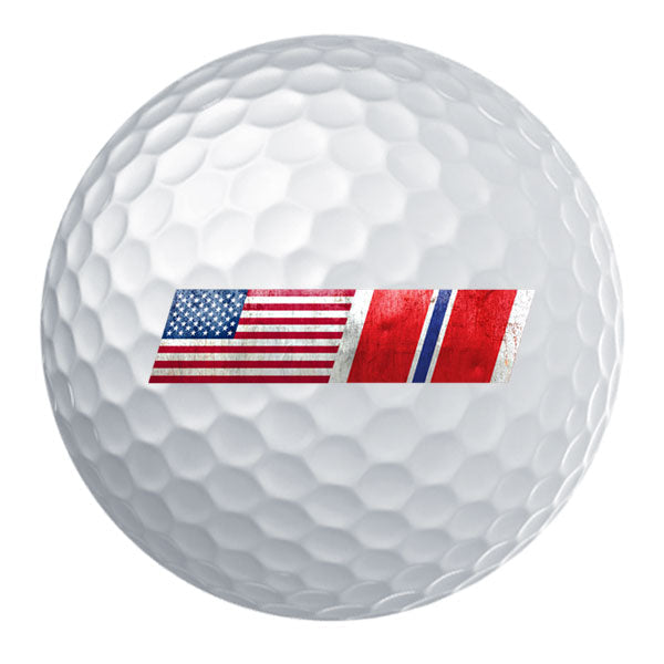 American Flag Bronze Star Ribbon Blend Golf Ball Set