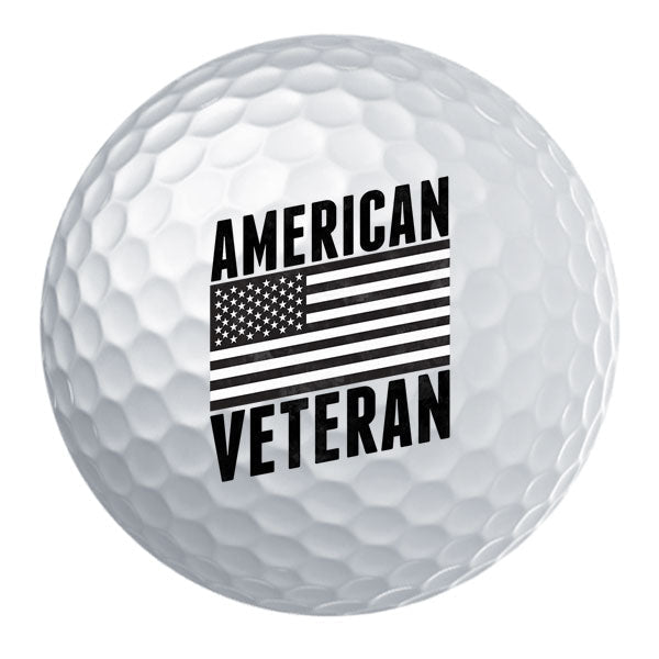 American Veteran Flag Golf Ball Set