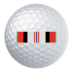 Afghanistan Campaign Ribbon Golf Ball Set