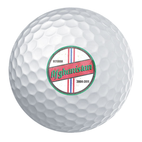 Retro Afghanistan Campaign Veteran Golf Ball Set