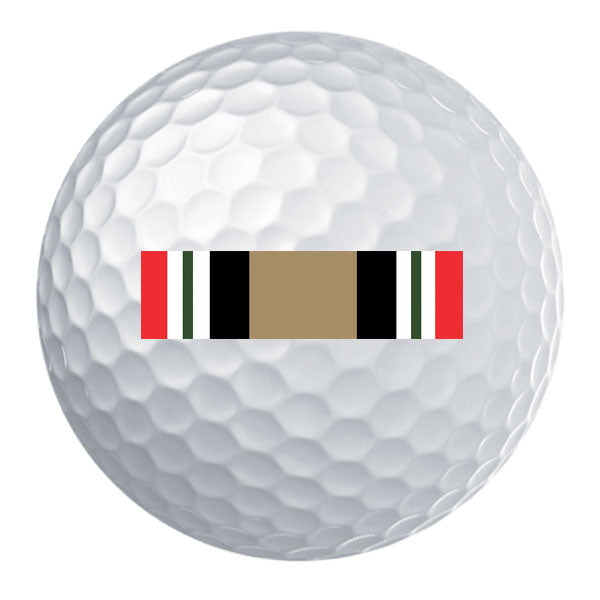 Iraq Campaign Ribbon Golf Ball Set