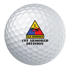 1st Armored Division Badge Golf Ball Set
