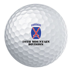 10th Mountain Division Badge Golf Ball Set