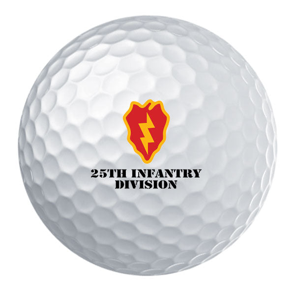 25th Infantry Division Badge Golf Ball Set