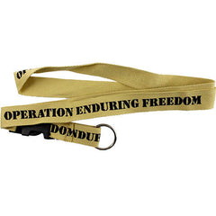 Operation Enduring Freedom Khaki Lanyard