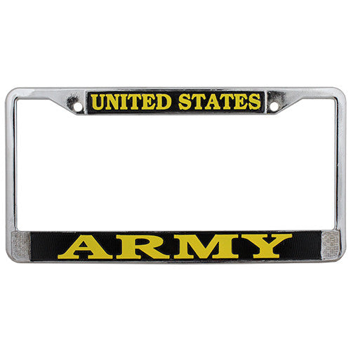 Army License Plate Frame